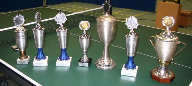 Tischtennis-Vereins- und Stadtmeisterschaften am 7. und 8. Dezember 2018