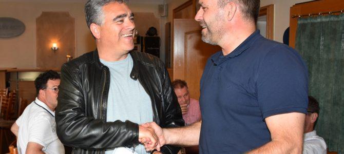 Ausgezeichnete Treue Markus Wessels seit 40 Jahren Mitglied im TTV Emsdetten.